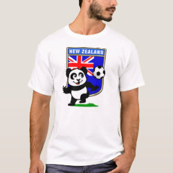 Men's Basic T-Shirt with New Zealand Football Panda design