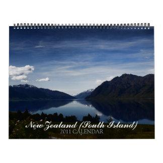 New Zealand South Island 2011 Calendar