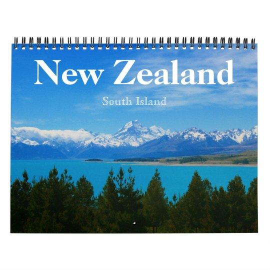 new zealand south island 2021 calendar   Zazzle.com