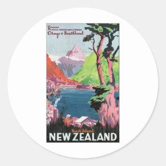 New Zealand South Island Classic Round Sticker