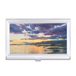 New Zealand, South Island, Kaikoura, South Bay Business Card Holder