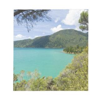 New Zealand, South Island, Marlborough Sounds. Notepad