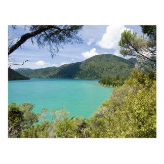 New Zealand, South Island, Marlborough Sounds. Postcard
