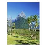 New Zealand, South Island,  Mitre Peak, Postcard