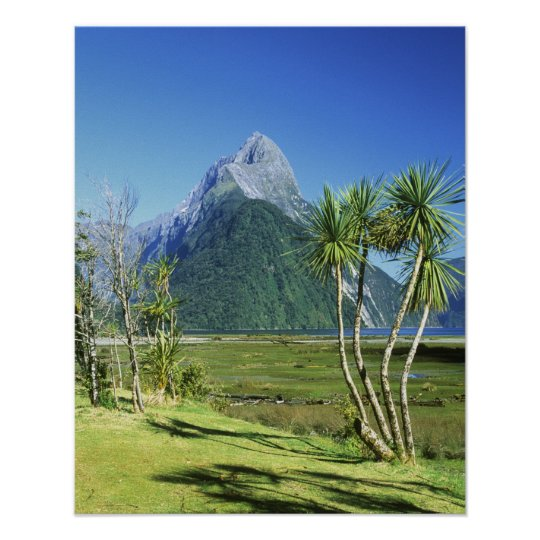 New Zealand, South Island,  Mitre Peak, Poster