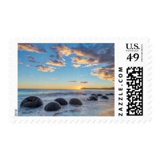 New Zealand, South Island, Moeraki Boulders Postage