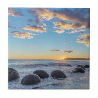 New Zealand, South Island, Moeraki Boulders Tile