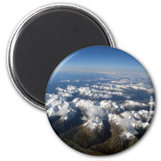 New Zealand South Island Mountains Sky View Magnet