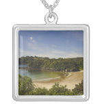 New Zealand, Southland, Stewart Island, Halfmoon Personalized Necklace