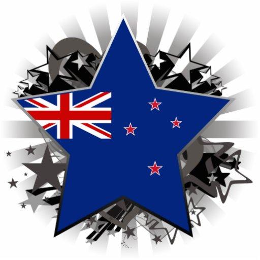 New Zealand Star Standing Photo Sculpture