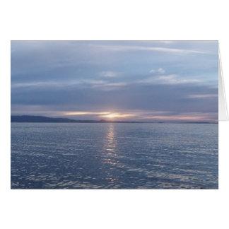 New Zealand Sunset Greeting Card