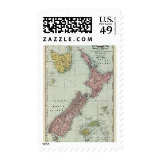 New Zealand Tasmania Fiji Stamps