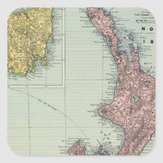 New Zealand, Tasmania, Fiji Square Sticker