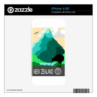 New Zealand vintage design Decal For iPhone 4S