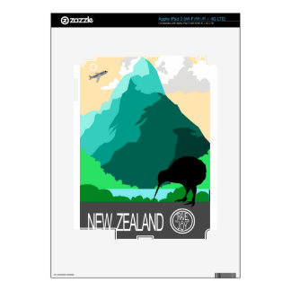 New Zealand vintage design Decals For iPad 3