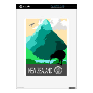 New Zealand vintage design Decals For The iPad