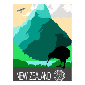 New Zealand vintage design Postcard