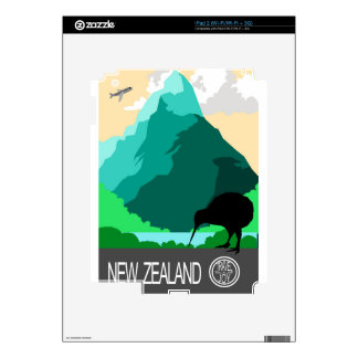 New Zealand vintage design Skins For The iPad 2