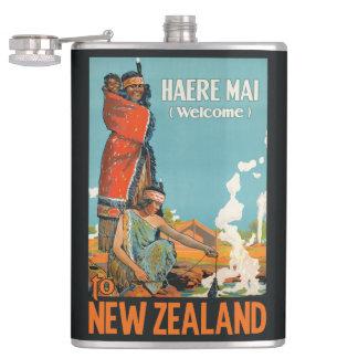 New Zealand vintage travel flask