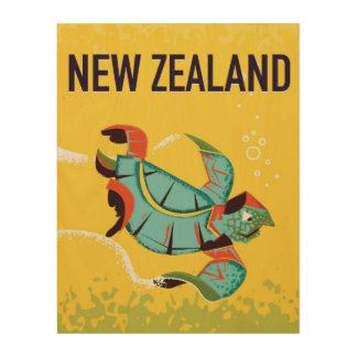 New Zealand vintage travel poster art.