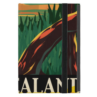 New Zealand Vintage Travel Poster Cases For iPad Mini