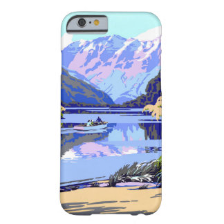 New Zealand Vintage Travel Poster Restored Barely There iPhone 6 Case