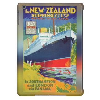 New Zealand Vintage Travel Poster Restored Case For iPad Air