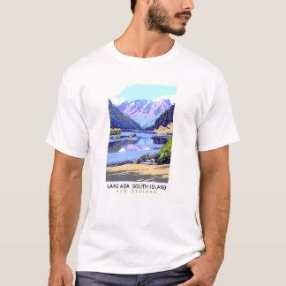 New Zealand Vintage Travel Poster Restored T-Shirt