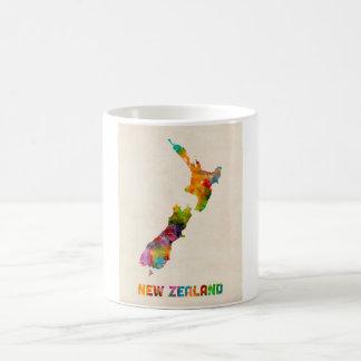 New Zealand, Watercolor Map Coffee Mug