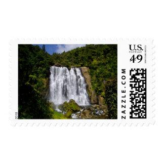 New Zealand Waterfall Stamp