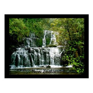 New Zealand Waterfall - Purakaunui Falls Postcard