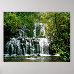 New Zealand Waterfall - Purakaunui Falls Poster