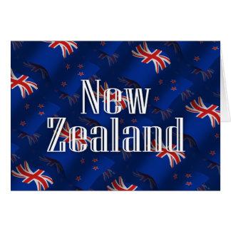 New Zealand Waving Flag Card