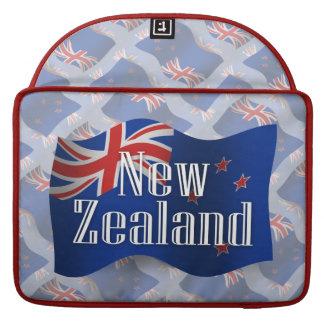 New Zealand Waving Flag MacBook Pro Sleeve