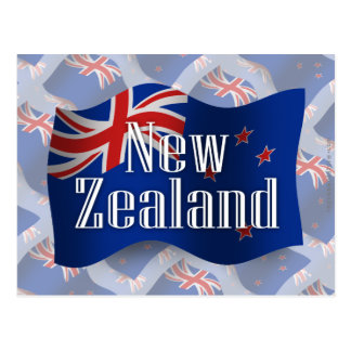 New Zealand Waving Flag Postcard