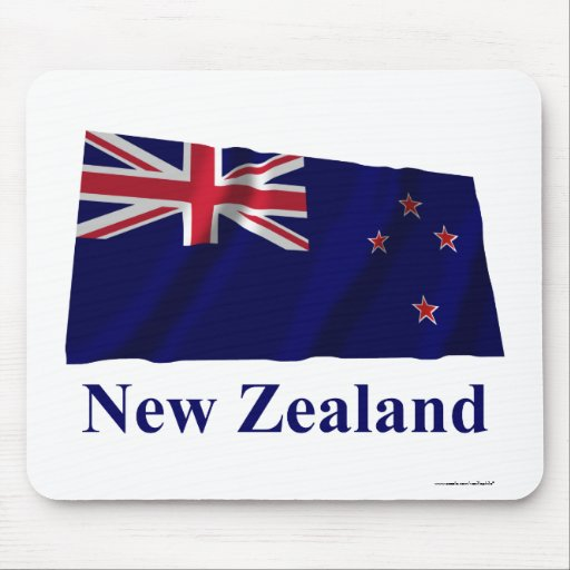 New Zealand Waving Flag with Name Mouse Pad