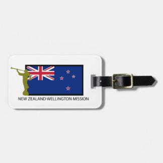 NEW ZEALAND WELLINGTON MISSION LDS CTR BAG TAG