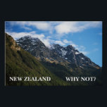 """NEW ZEALAND, WHY NOT? POSTER<br><div class=""""desc"""">poster seen on Season 1 of Flight of the Conchords. Check out more products... .</div>"""