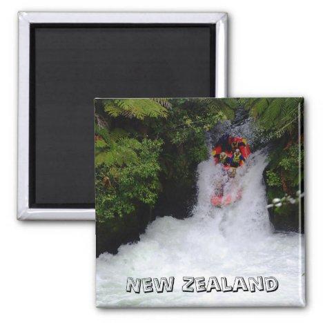 New Zealand, Wild Water Rafting (Fridge Magnet)