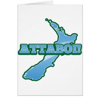 NEW ZEALAND with a map ATTABOI! Card