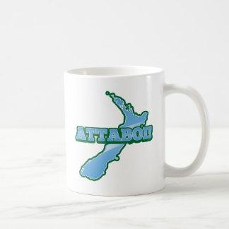 NEW ZEALAND with a map ATTABOI! Coffee Mug
