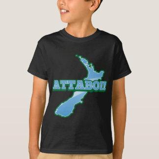 NEW ZEALAND with a map ATTABOI! T-Shirt