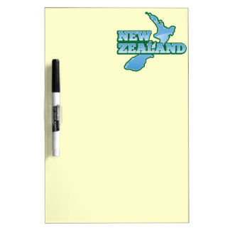 NEW ZEALAND with a map Dry Erase Board