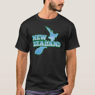 NEW ZEALAND with a map T-Shirt