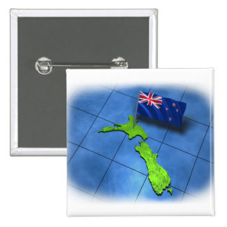 New Zealand with its own flag Pin