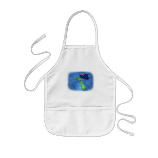 New Zealand with its own flag Kids' Apron