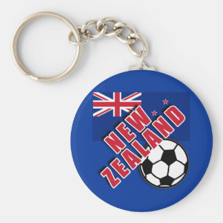 NEW ZEALAND World Soccer Fan Tshirts Basic Round Button Keychain