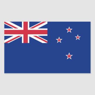New Zealand/Zealander/Kiwi Flag Rectangular Sticker