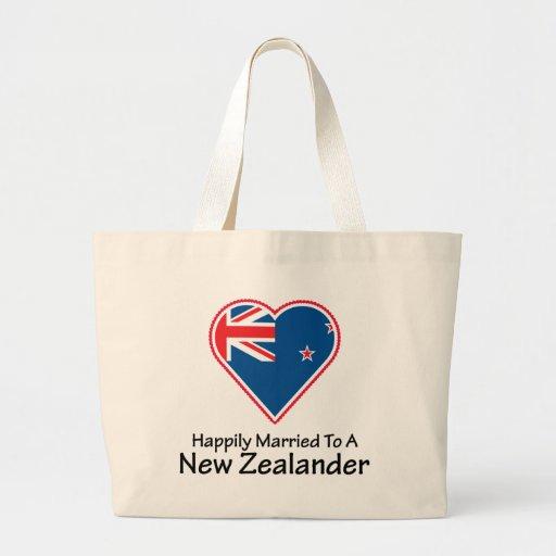 New Zealander feliz casado Bolsa De Mano