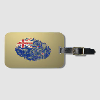 New Zealander touch fingerprint flag Bag Tag